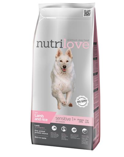 NUTRILOVE Premium cu miel și orez DOG SENSITIVE - 3 kg imagine