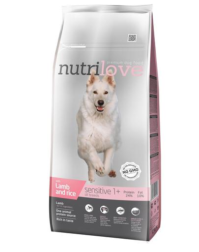 NUTRILOVE Premium cu miel și orez DOG SENSITIVE - 12 kg imagine