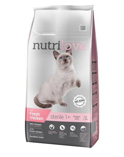 NUTRILOVE Premium cu pui proaspăt, pentru pisici sterilizate - 7 kg imagine
