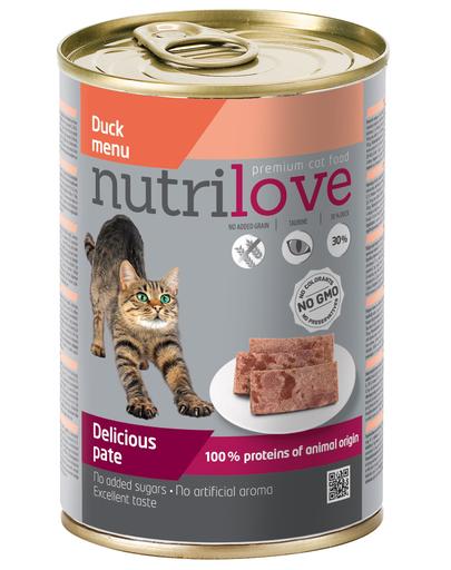 NUTRILOVE Pate de rață pentru pisică premium 400g imagine