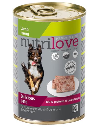 NUTRILOVE Premium Lamb Dog Pate 400g imagine