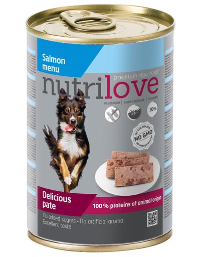 NUTRILOVE Pate de somon premium pentru câini 400g imagine