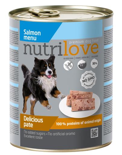NUTRILOVE Premium de somon pentru câini 800g imagine