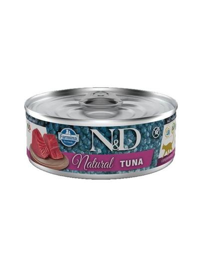 FARMINA N&D Hrană umedă pentru pisici - ton natural - 80 g imagine
