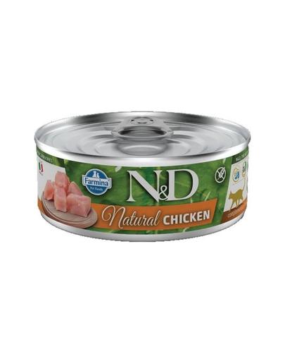 FARMINA N&D Hrană umedă penru pisici, din pui - 80 g imagine