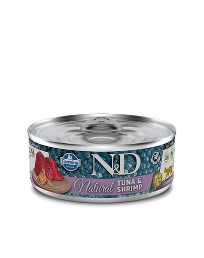 FARMINA N&D Hrană umedă pentru pisici -ton și creveți - 80g imagine