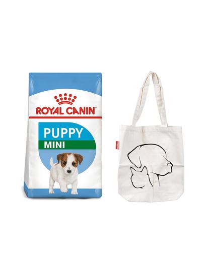 ROYAL CANIN Mini Puppy / Junior 16 kg (2 x 8 kg) hrană uscată pentru pui cu vârsta cuprinsă între 2 și 10 luni, rase mici + rucsac in imagine